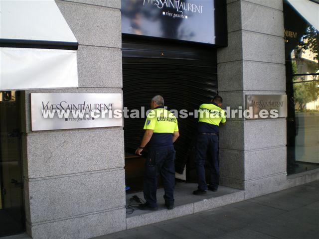 Cristales Escaparates Urgentes Madrid - Cristalerías Madrid 24 Horas